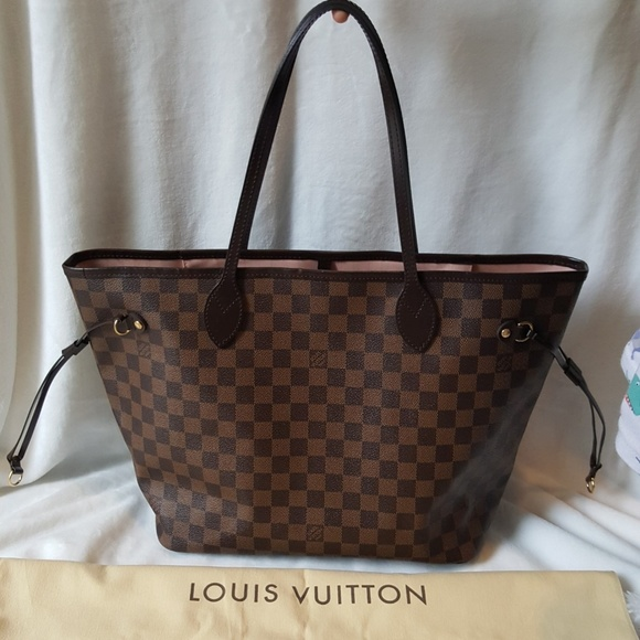Louis Vuitton Handbags - 100% Auth Neverfull MM Damier Ebene 3b2df188e1ec2